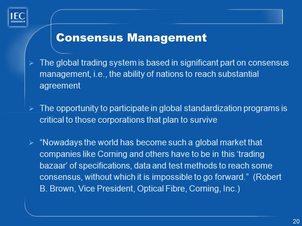 Consensus Management