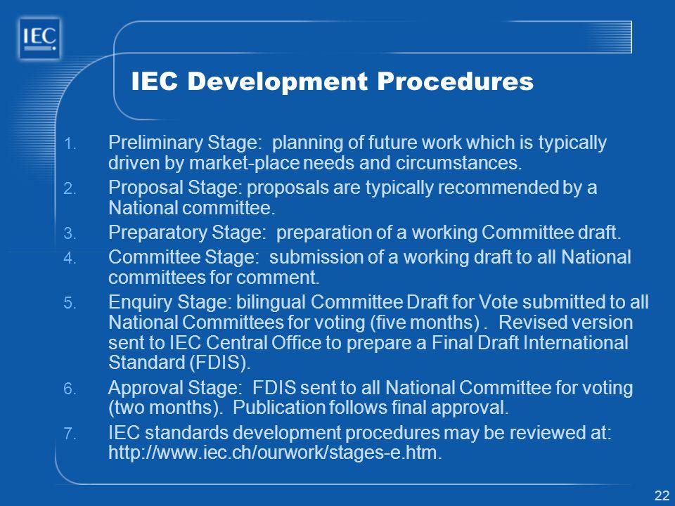 IEC Development Procedures