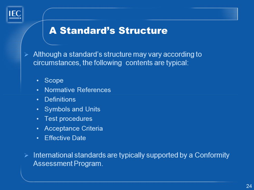 A Standard's Structure
