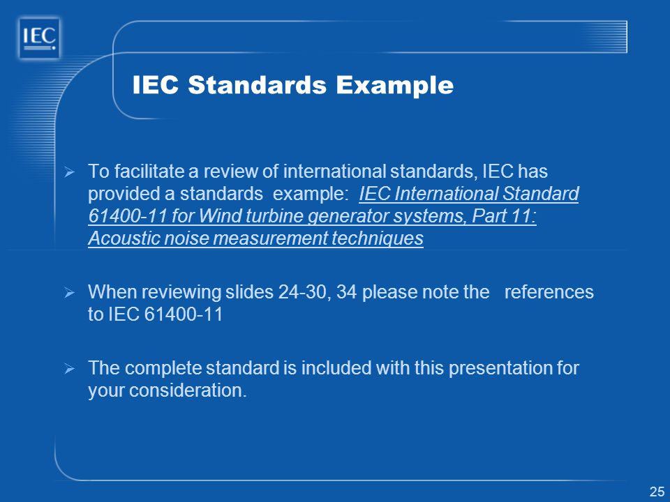 IEC Standards Example