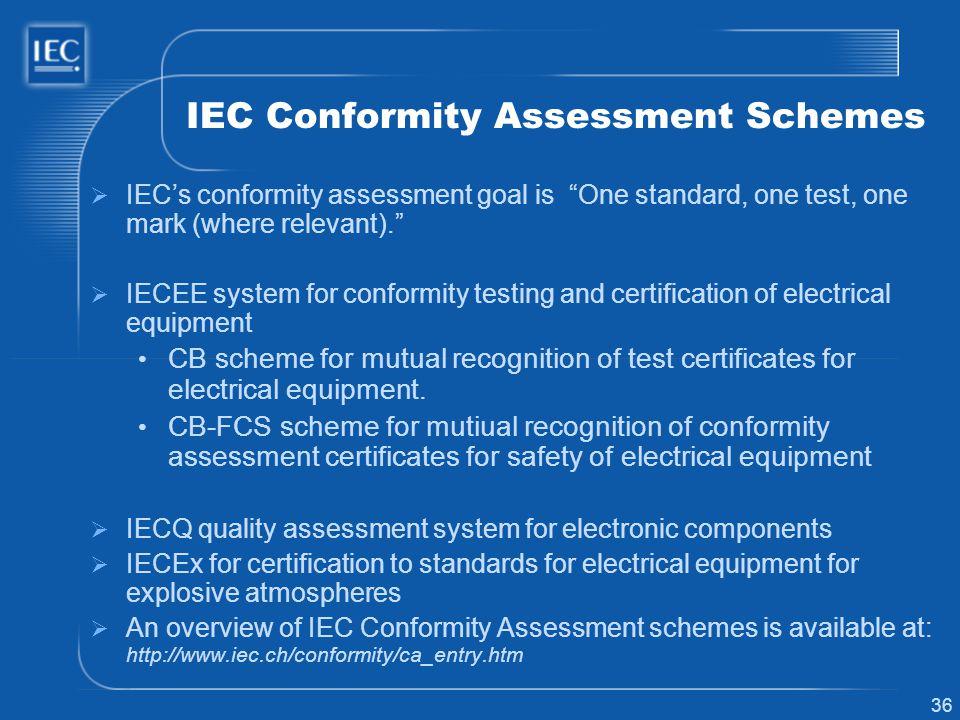 IEC Conformity Assessment Schemes