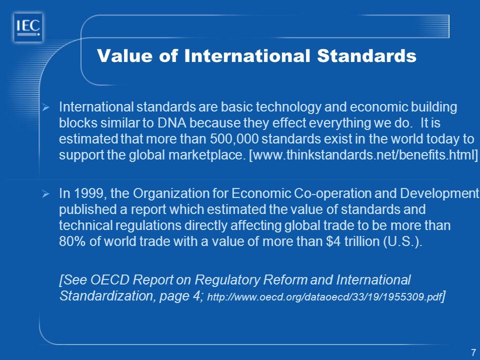 Value of International Standards