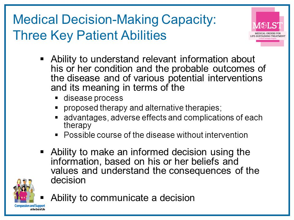Medical Decision-Making Capacity: Three Key Patient Abilities