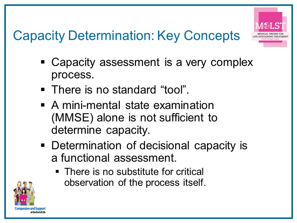 Capacity Determination: Key Concepts