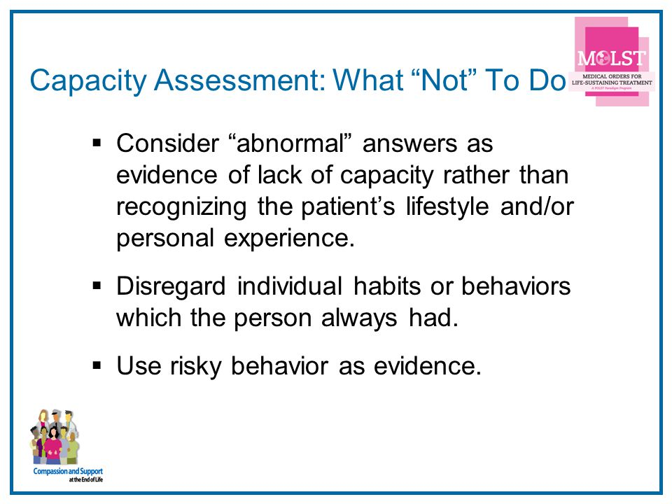 Capacity Assessment: What Not To Do