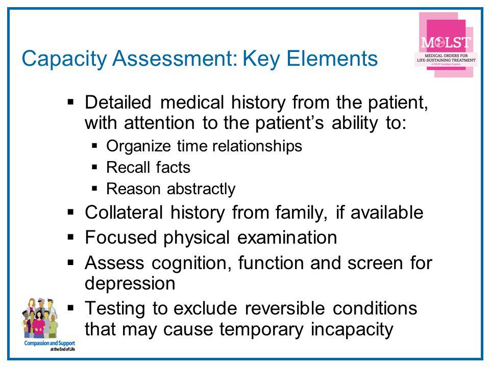 Capacity Assessment: Key Elements