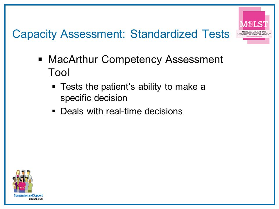 Capacity Assessment: Standardized Tests