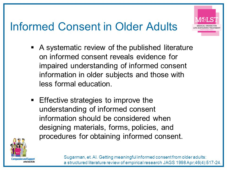 Informed Consent in Older Adults
