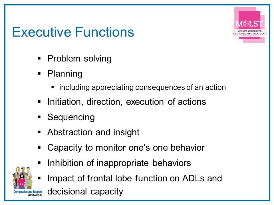 Executive Functions Problem solving Planning