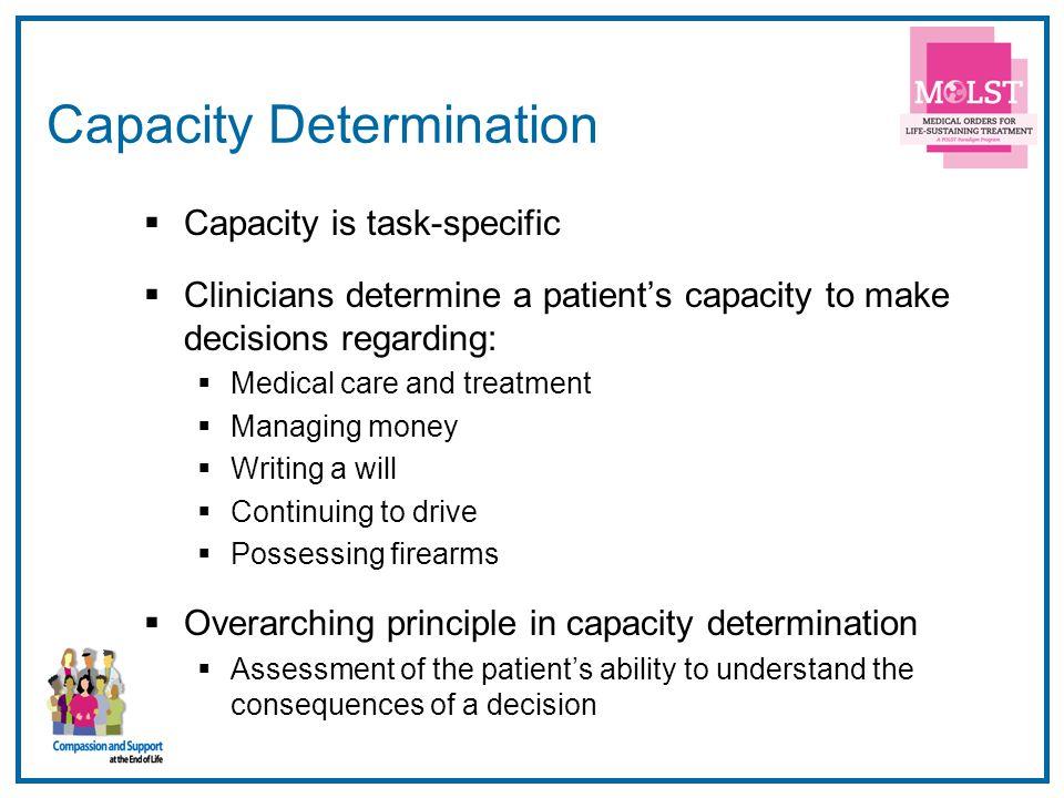 Capacity Determination