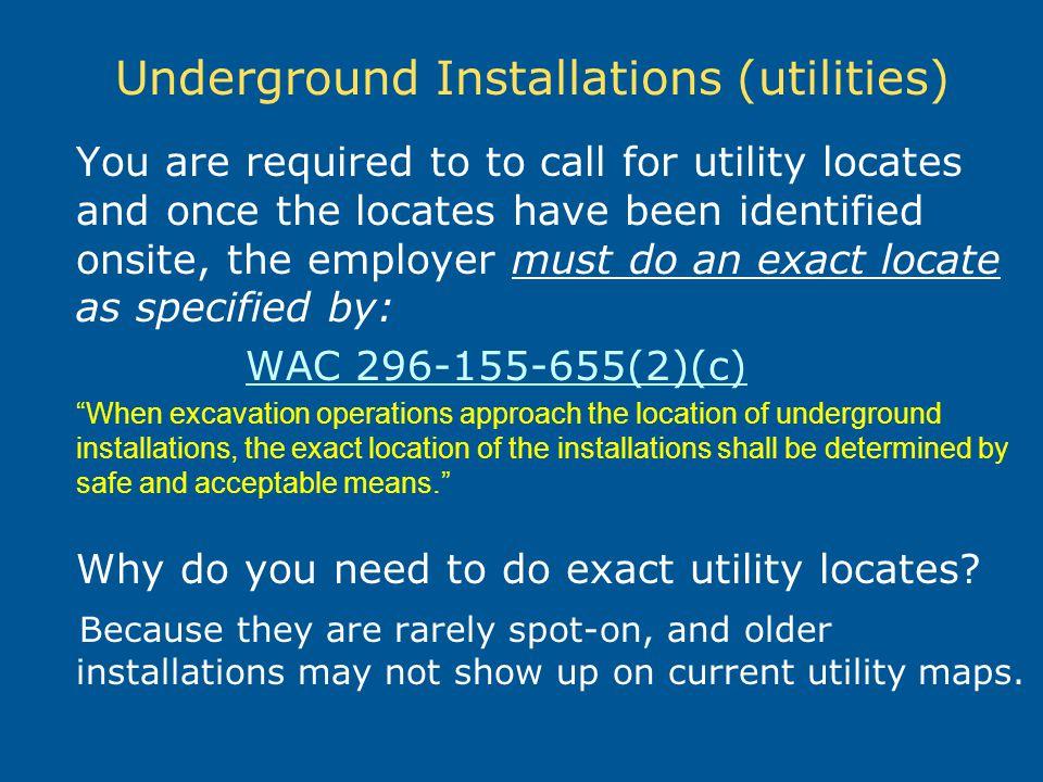Underground Installations (utilities)