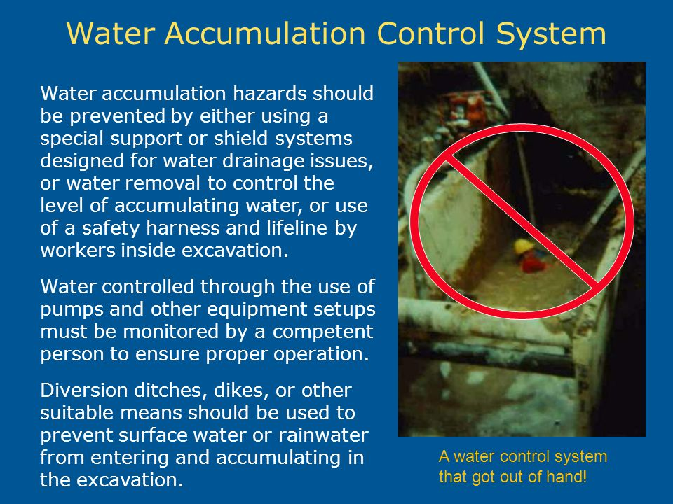 Water Accumulation Control System