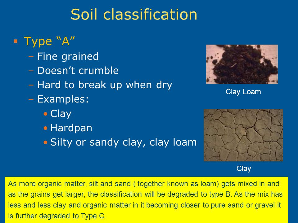 Excavation and trenching ppt video online download for Soil description