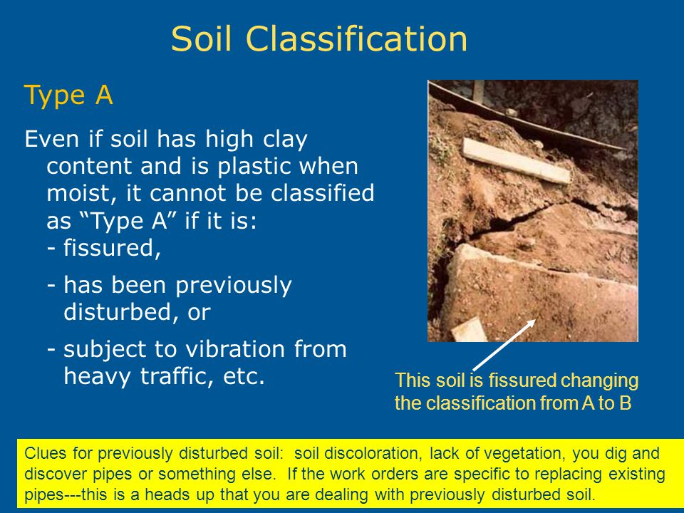 Soil Classification Type A