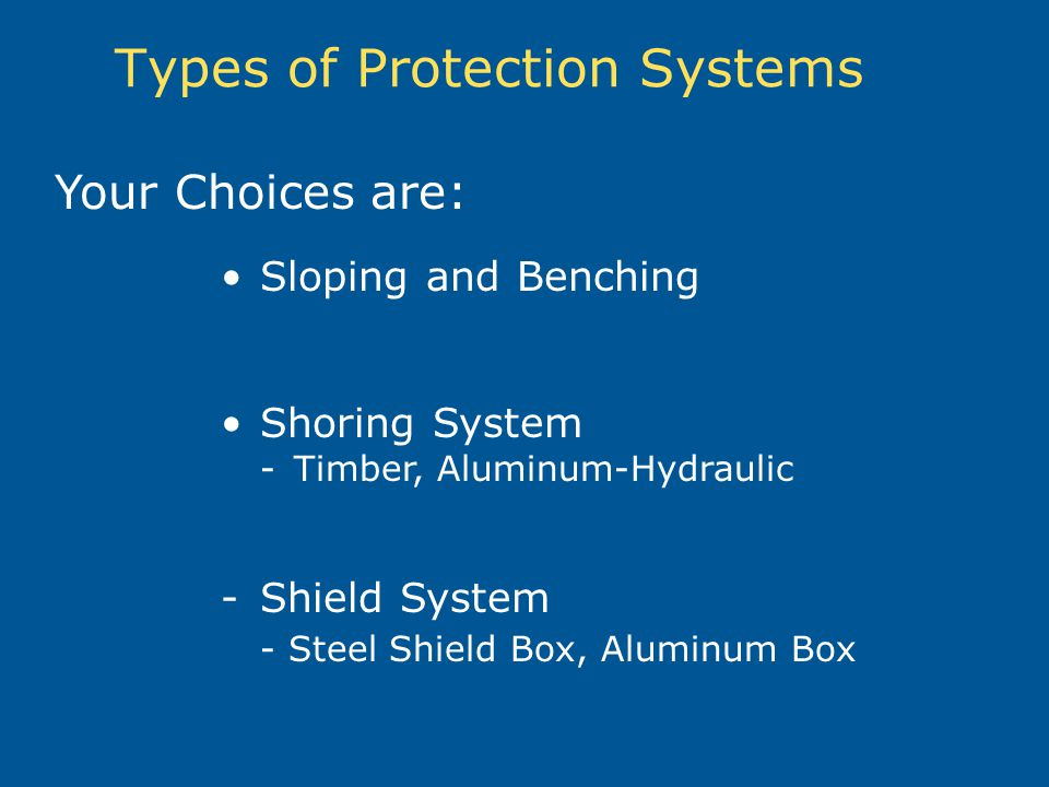 Types of Protection Systems