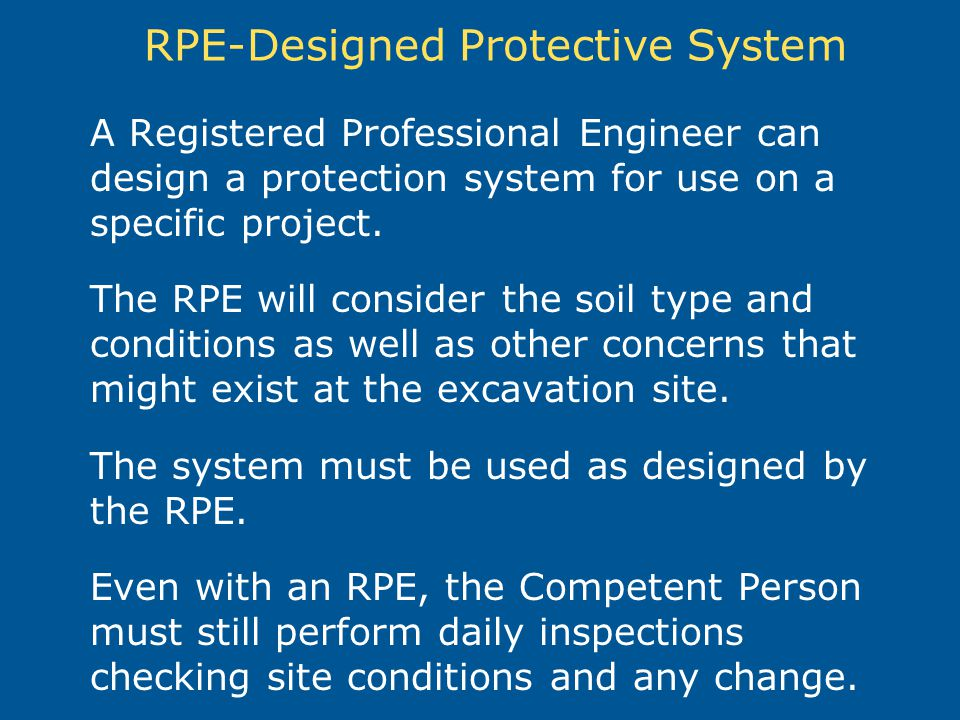 RPE-Designed Protective System