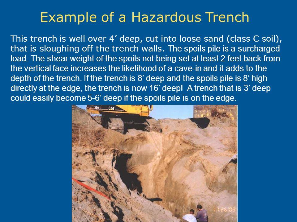 Example of a Hazardous Trench