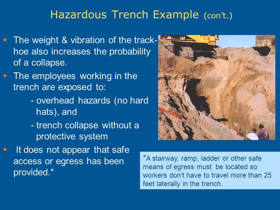 Hazardous Trench Example (con't.)