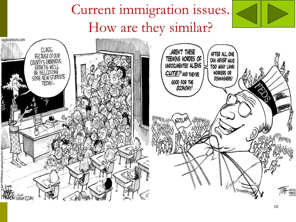 Current immigration issues. How are they similar