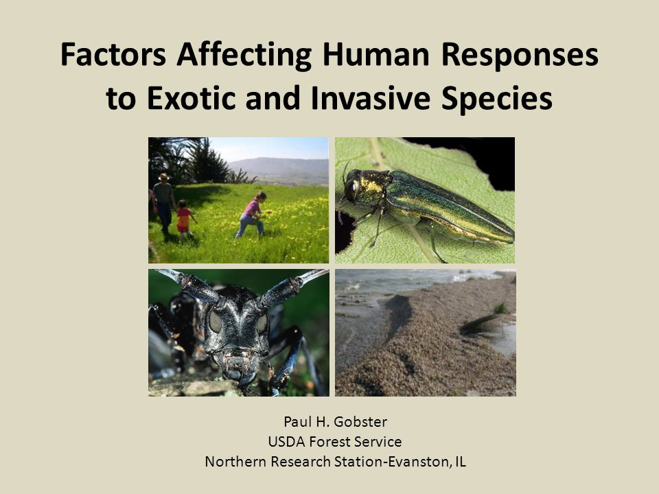 Factors Affecting Human Responses to Exotic and Invasive Species