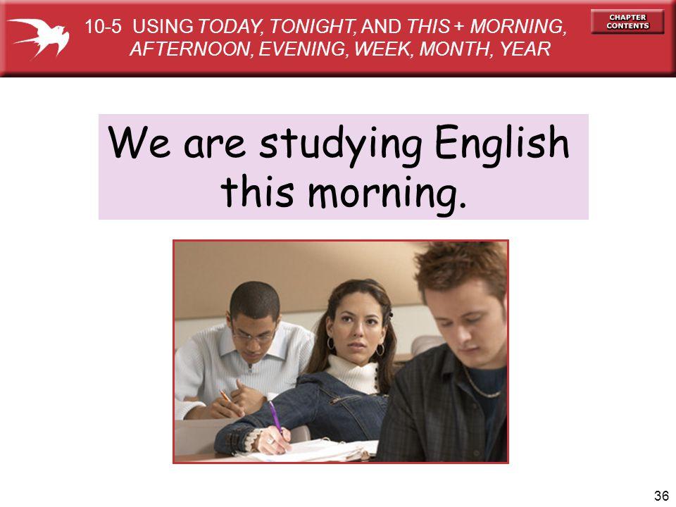 We are studying English