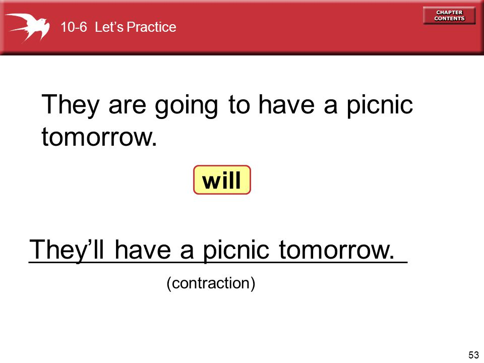 They are going to have a picnic tomorrow.