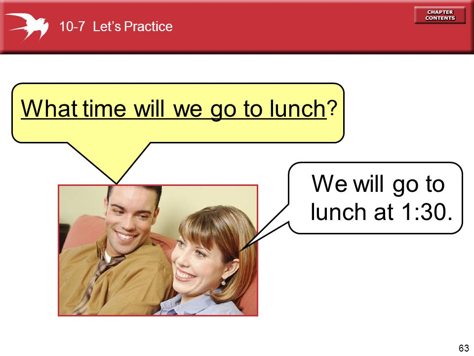What time will we go to lunch