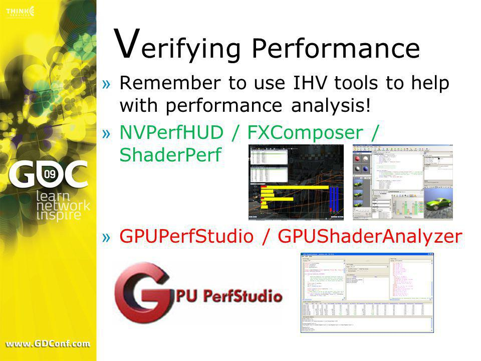 Verifying Performance