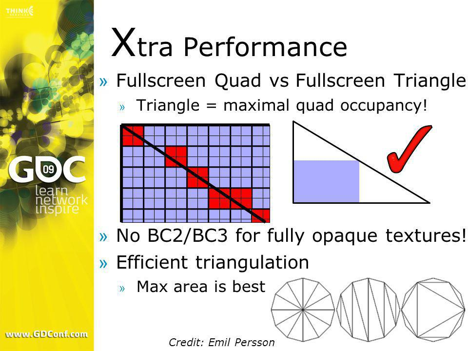 Xtra Performance Fullscreen Quad vs Fullscreen Triangle
