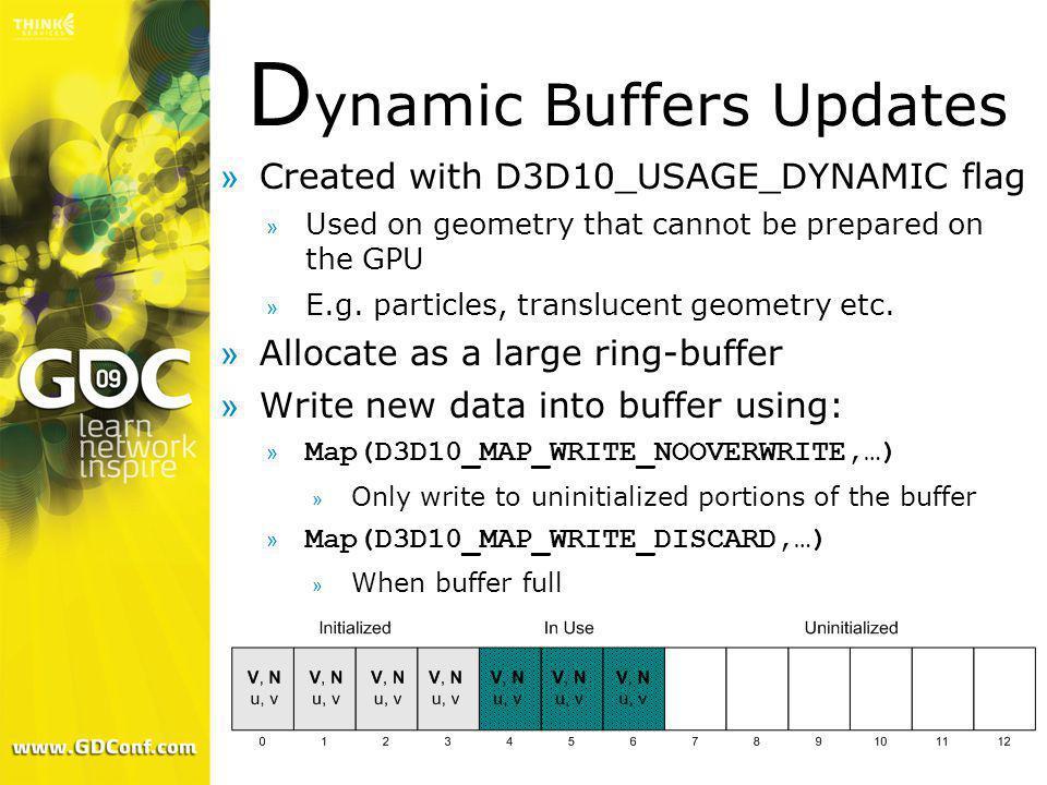 Dynamic Buffers Updates