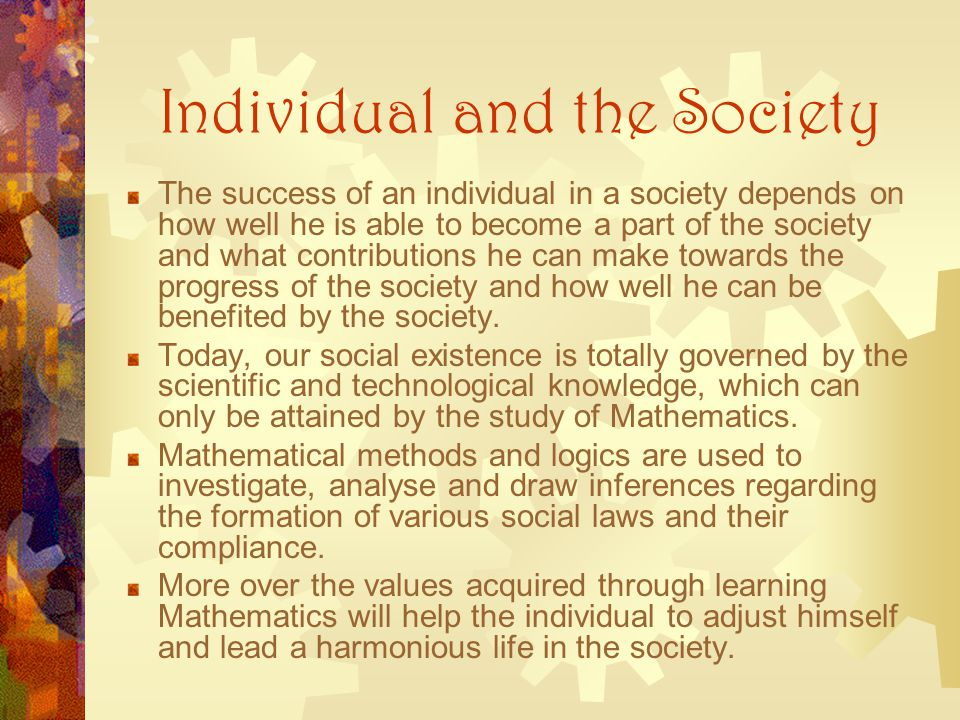 Individual and the Society