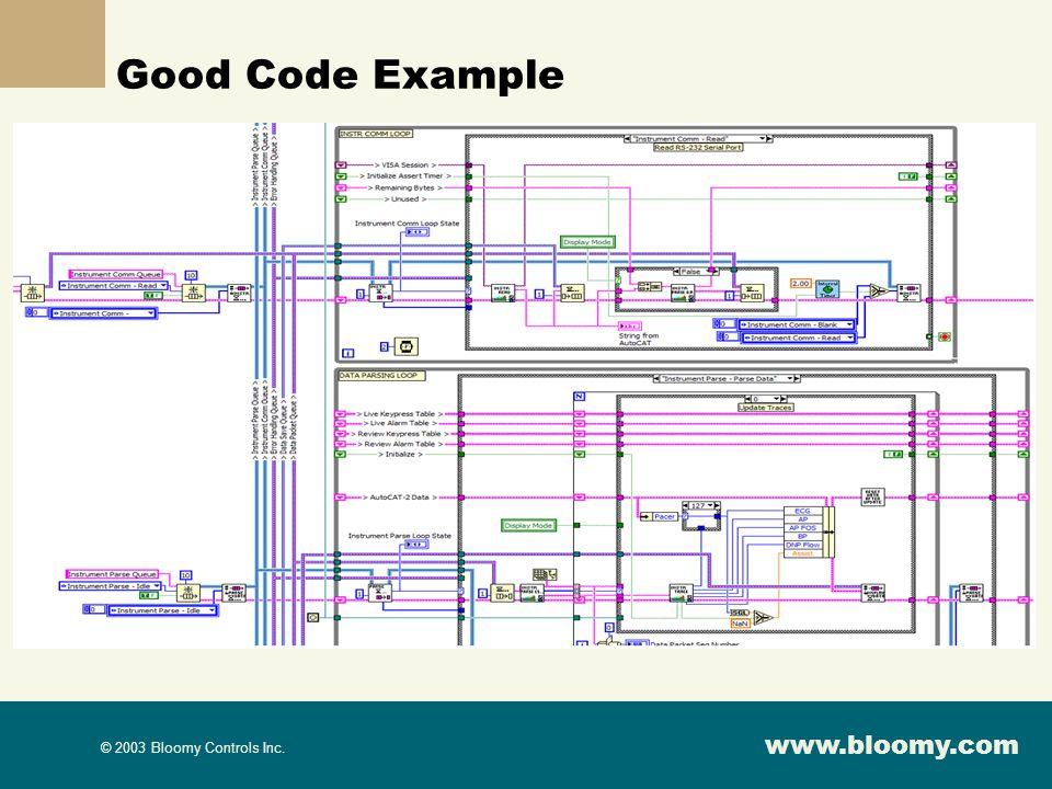Good Code Example
