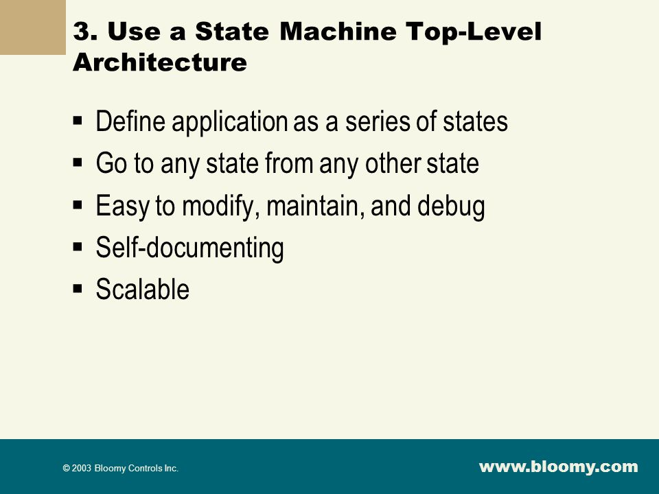 3. Use a State Machine Top-Level Architecture