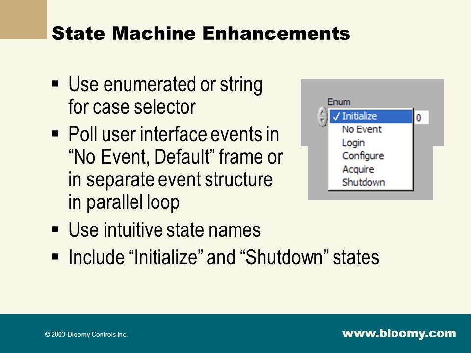 State Machine Enhancements