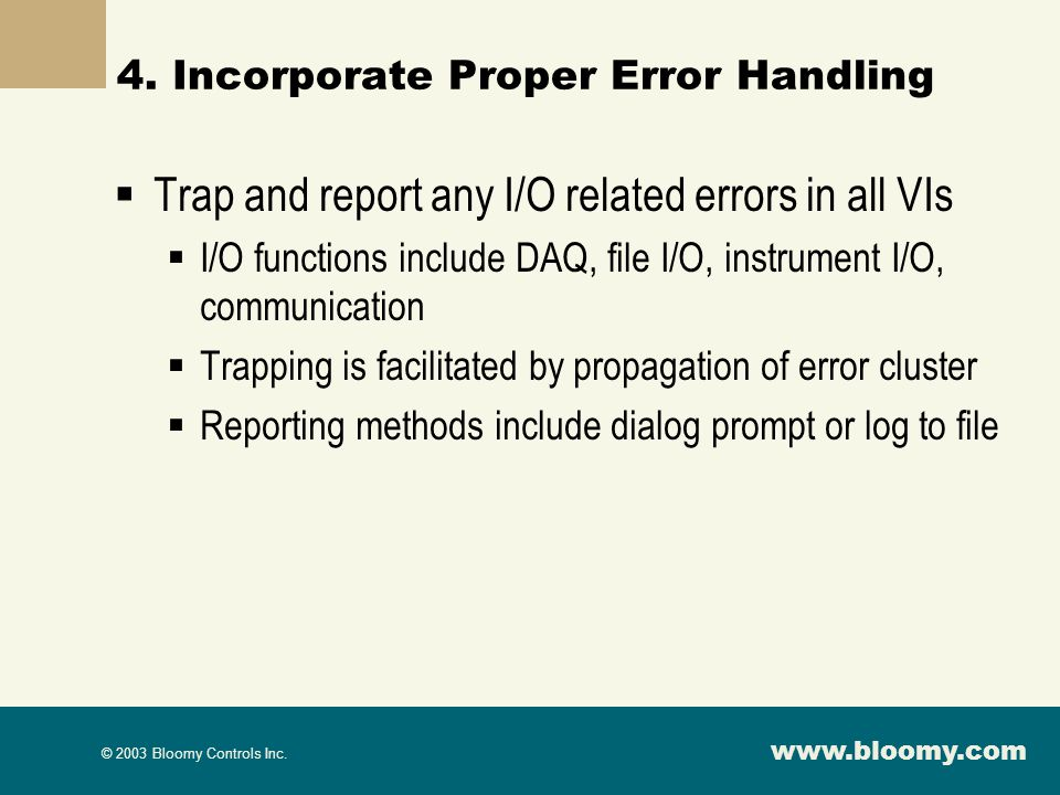 4. Incorporate Proper Error Handling