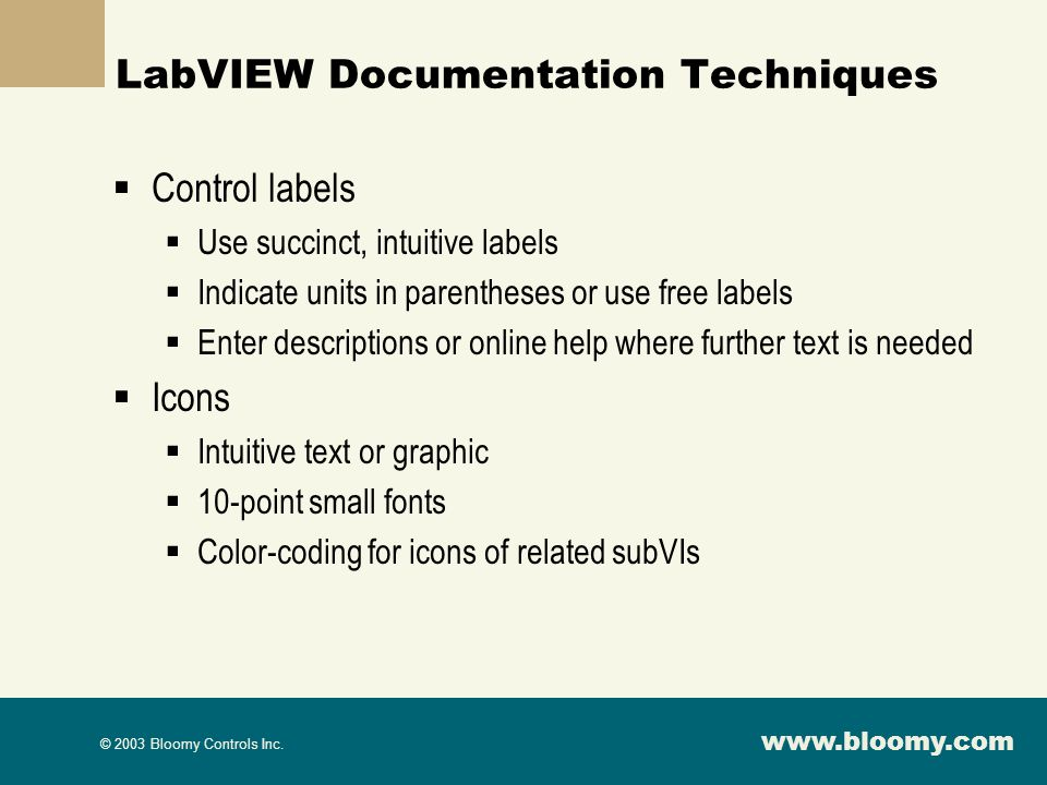LabVIEW Documentation Techniques