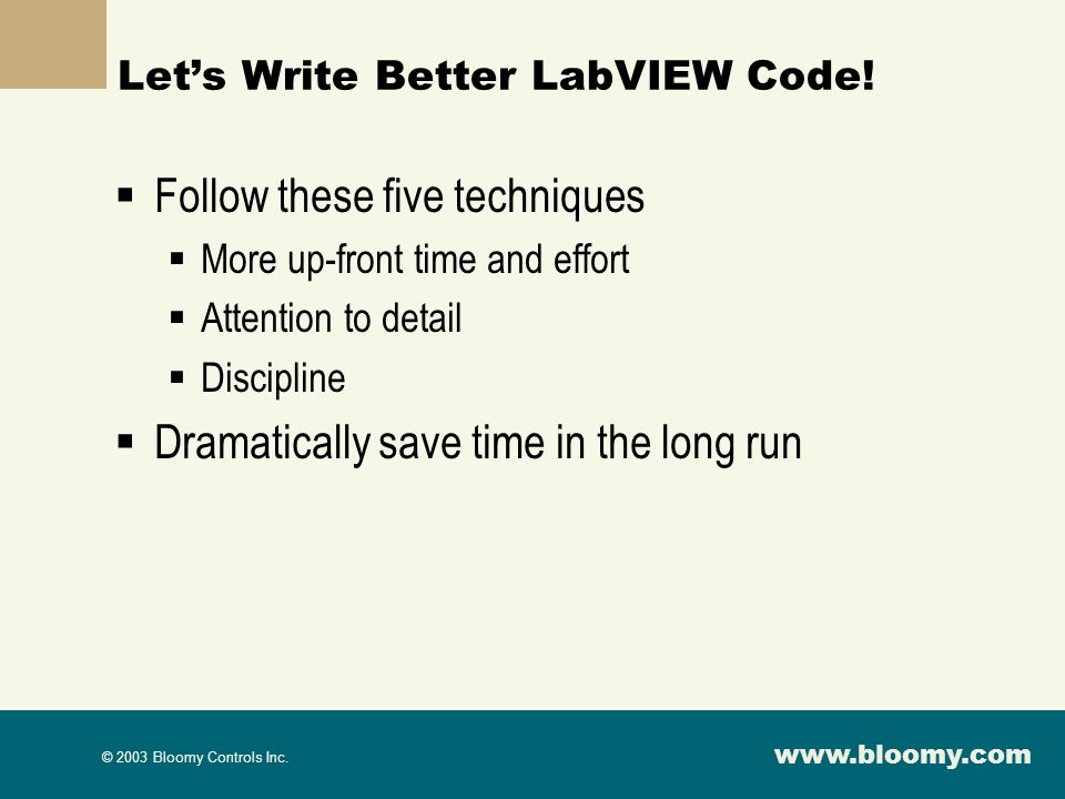 Let's Write Better LabVIEW Code!