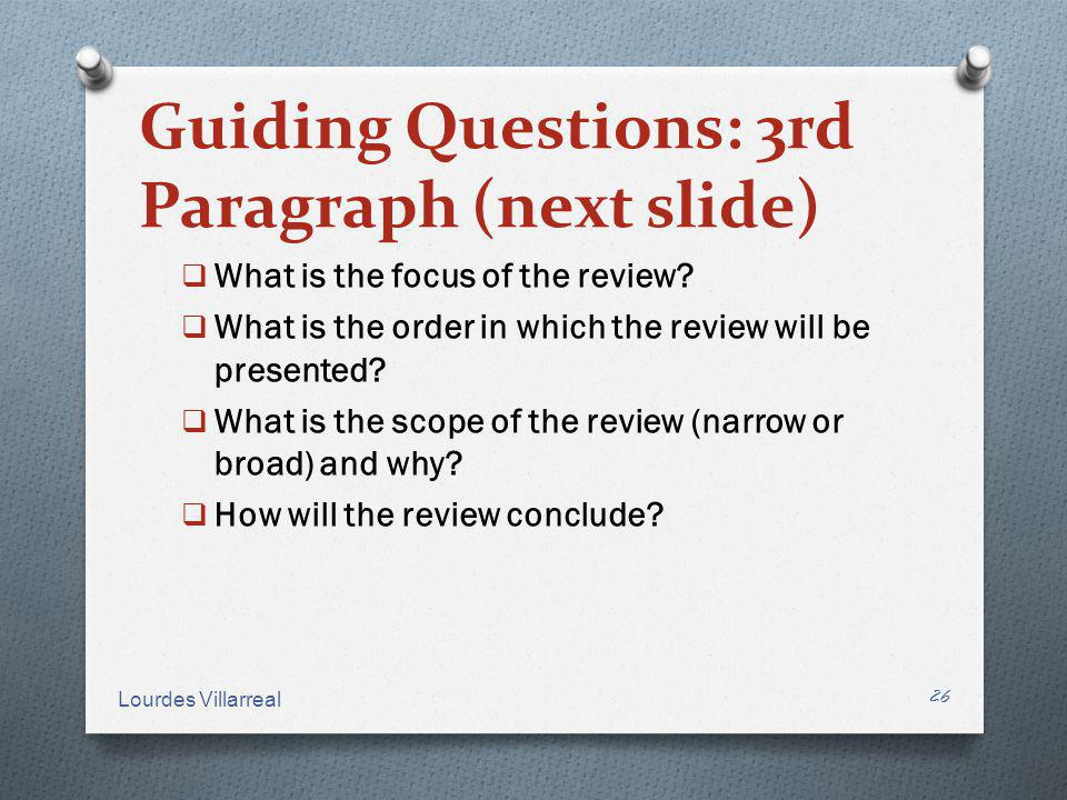 Guiding Questions: 3rd Paragraph (next slide)