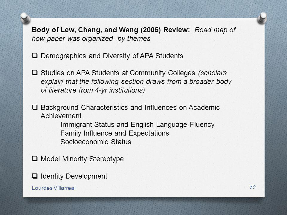 Demographics and Diversity of APA Students