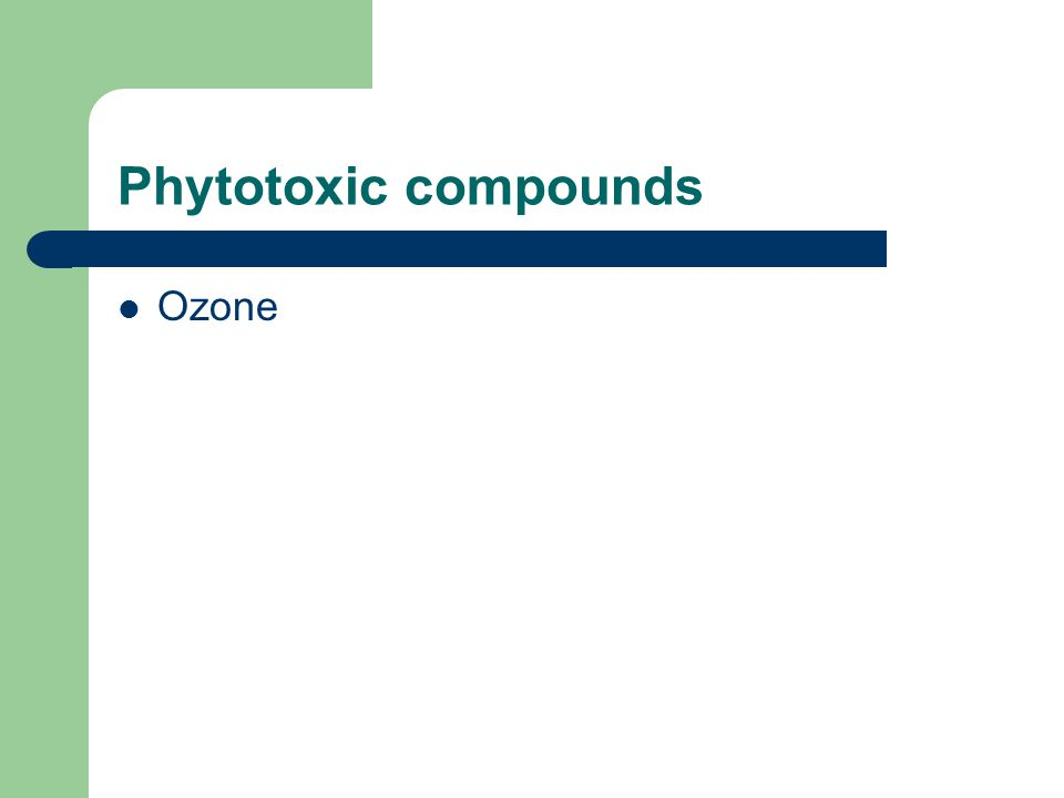 Phytotoxic compounds Ozone