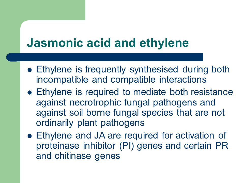 Jasmonic acid and ethylene