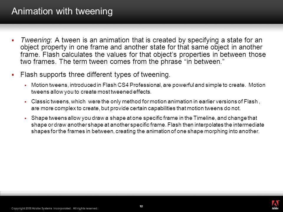 Animation with tweening
