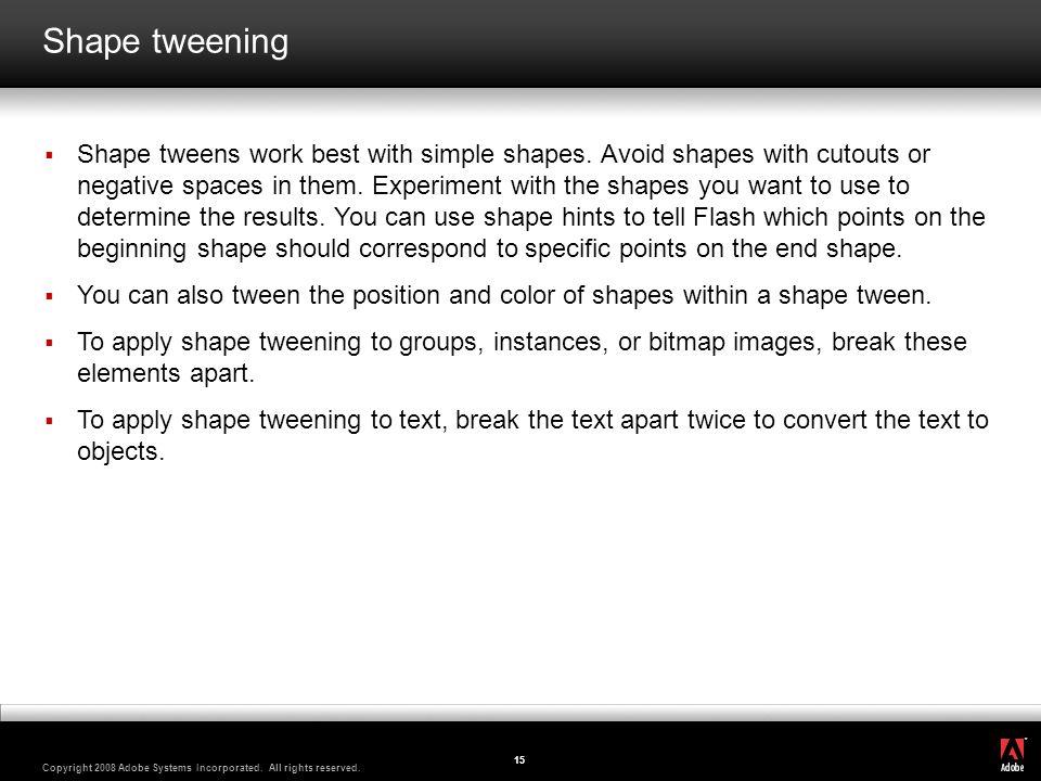 Shape tweening