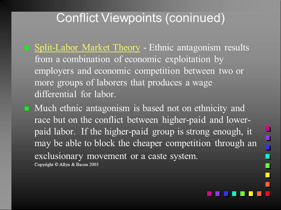 Conflict Viewpoints (coninued)