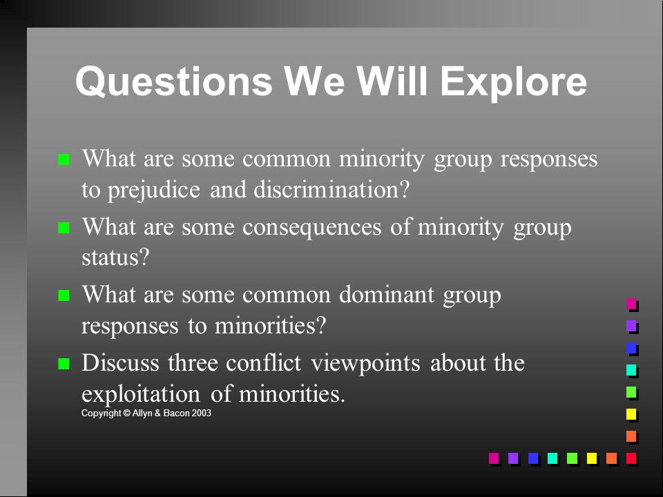 Questions We Will Explore