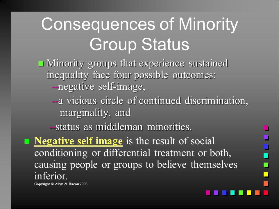 Consequences of Minority Group Status