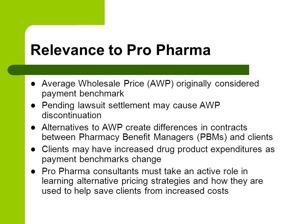 Relevance to Pro Pharma