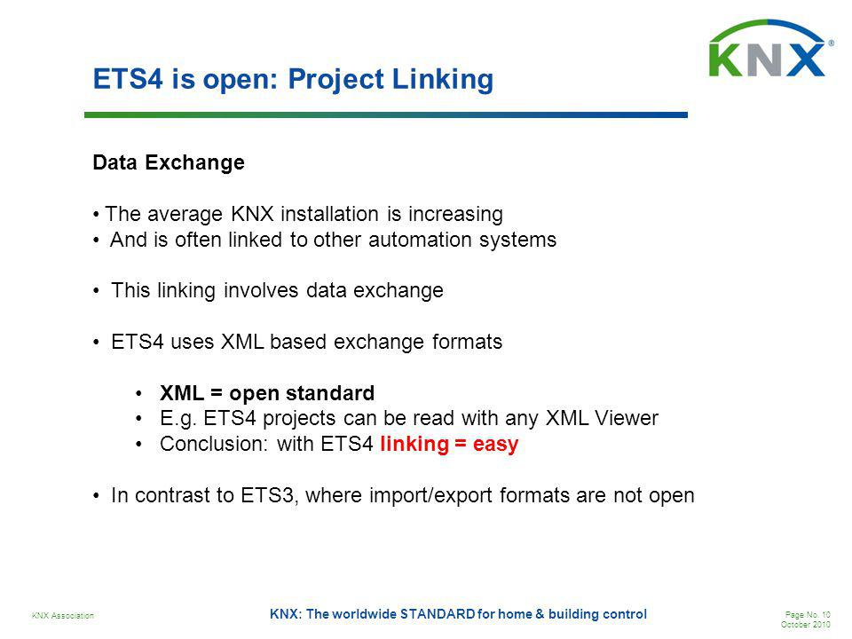 ETS4 is open: Project Linking