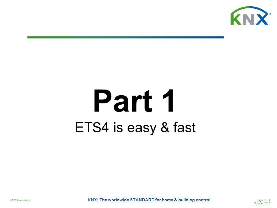 Part 1 ETS4 is easy & fast