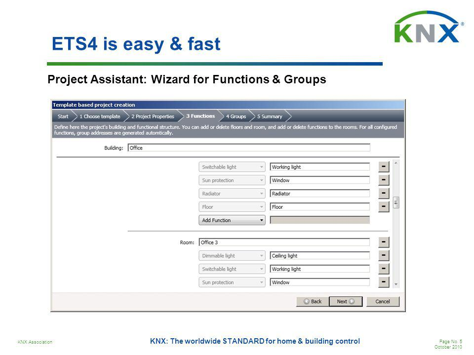 ETS4 is easy & fast Project Assistant: Wizard for Functions & Groups